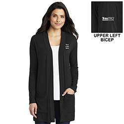 LADIES LONG POCKET CARDIGAN SWEATER