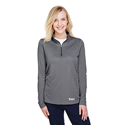 HEATHER PERFORMANCE 1/4 ZIP - LADIES