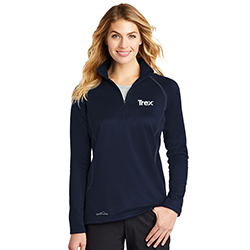 EDDIE BAUER 1/2 ZIP SMOOTH FLEECE BASE LAYER -