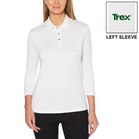 CALLAWAY 3/4 SLEEVE POLO - LADIES